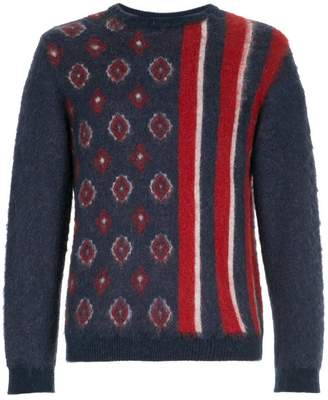 Coohem patterned crew neck sweater
