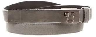 Salvatore Ferragamo Suede Skinny Belt