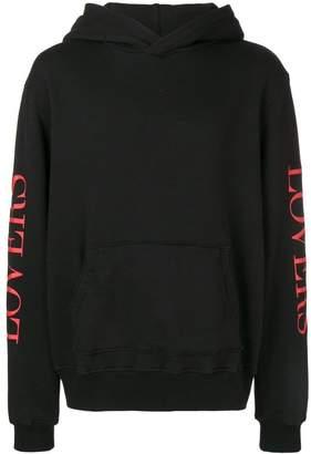 Amiri slogan hooded sweatshirt