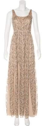 Alice + Olivia Sleeveless Maxi Dress Beige Sleeveless Maxi Dress