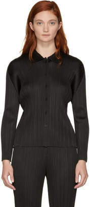 Pleats Please Issey Miyake Black Basics Pleated Shirt