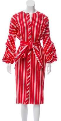 Johanna Ortiz Linen Button-Up Dress Terracotta Linen Button-Up Dress