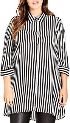 City Chic Stripe Love Tunic