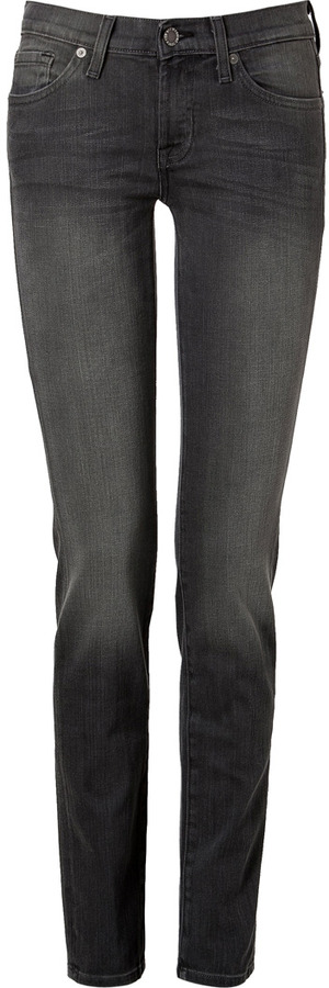 7 For All Mankind Seven Roxanne Jeans in Pure Dark Grey