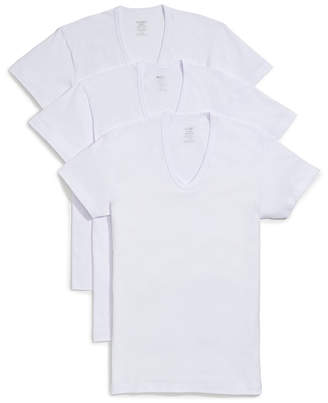 2xist Pack Of 3 Slim Fit V Neck T-Shirts