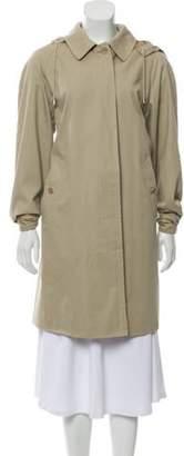 Burberry Knee-length Hood Coat Tan Knee-length Hood Coat