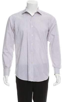 Etro Striped French Cuff Shirt