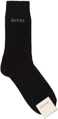 Gucci Logo Cotton Tricot Socks