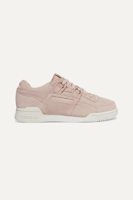 Reebok Workout Lo Plus Suede Sneakers - Baby pink