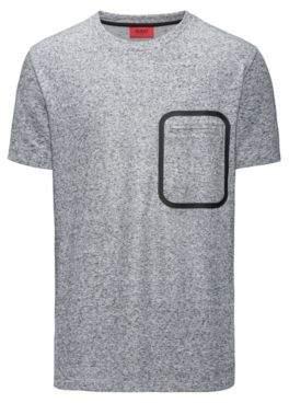 HUGO Boss Mouline French Terry T-Shirt Delushi XL Grey