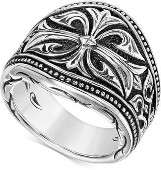 Scott Kay Men Engraved Ring in Sterling Silver