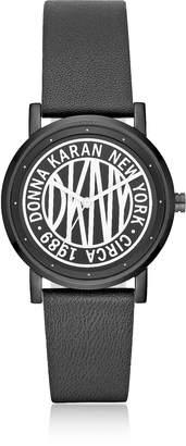 DKNY Soho Black Leather Women's Watch