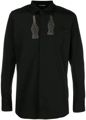 Neil Barrett bow tie studded shirt