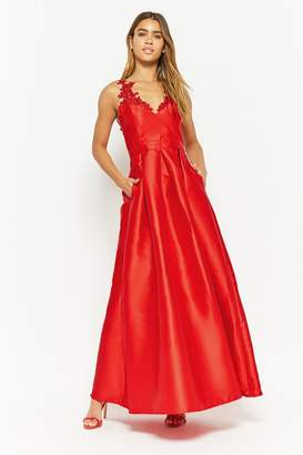 Forever 21 Embroidered Mesh Gown