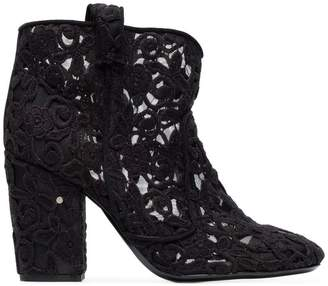 Laurence Dacade Black Pete 95 Crochet ankle boots