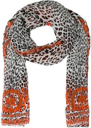 VersaceVersace Silk Cheetah Print Scarf