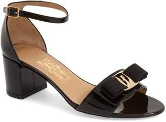 Salvatore Ferragamo Gavina Block Heel Bow Sandal