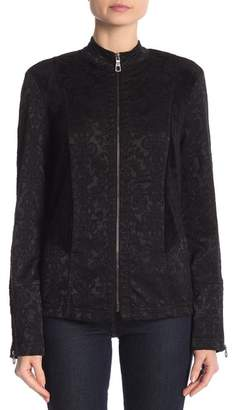 XCVI Front Zip Embroidered Jacket
