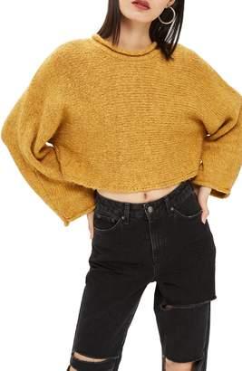 Topshop Punk Roll Neck Crop Sweater