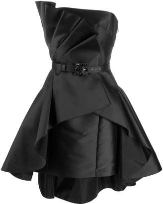 Alberta Ferretti pleated sleeveless dress