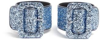 ATTICO Glitter-embellished ankle straps