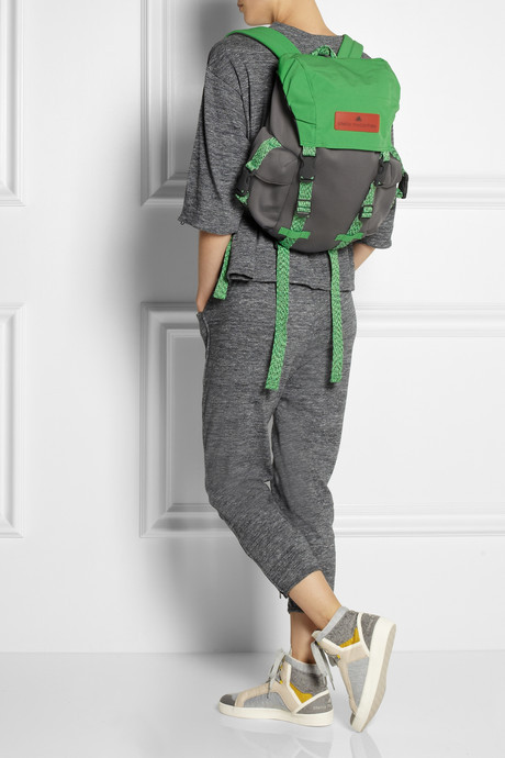 adidas by Stella McCartney Shell and neoprene-effect backpack