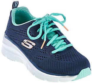 Skechers Skech-Knit Wedge Sneakers -Statement Piece