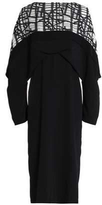 Chalayan Jacquard-Paneled Crepe Dress