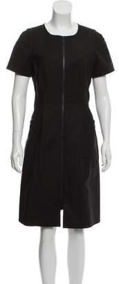 Lafayette 148 Zip-Accented Knee-Length Dress