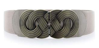 VOCHIC Retro Wide Metal Interlock Buckle Womens Elastic Waist Belt Cinch