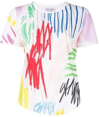 Mira Mikati scribble print T-shirt