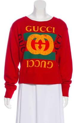 Gucci Long Sleeve Printed Sweatshirt