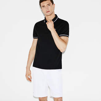 Lacoste Men's SPORT Miami Open Piped Technical Pique Tennis Polo