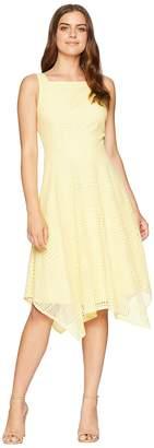 London Times Spiral Stripe Lace Dress Women's Dress