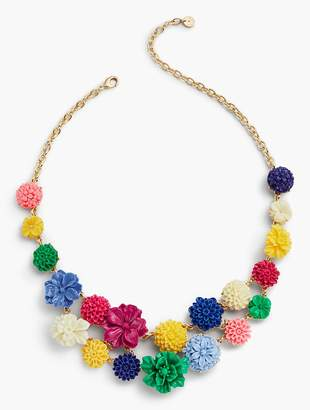 Talbots Carved Flower Bouquet Necklace