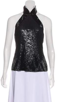 Giorgio Armani Halter Beaded Top