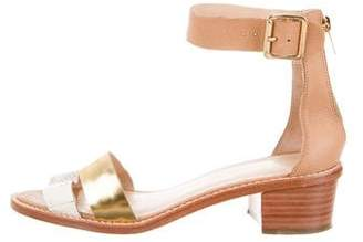 Loeffler Randall Leather Ankle-Strap Sandals