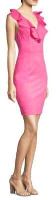 Trina Turk Alpinia Ruffled Knee-High Dress