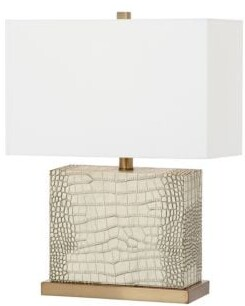 Safavieh Faux Alligator Modern Table Lamp