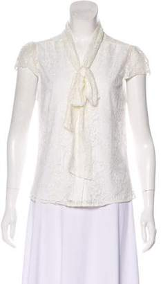Alice + Olivia Short Sleeve Button-Up Top
