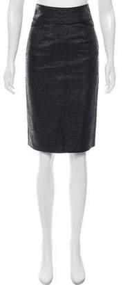 Zac Posen Textured Knee-Length Skirt