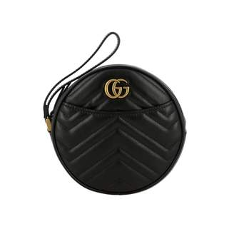 Gucci Mini Bag Gg Marmont Disco Bag In Quilted Leather With Chevron Pattern