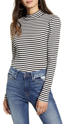 Splendid Wyatt Stripe Mock Neck Top