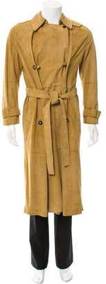 Loewe Double-Breasted Suede Trench Coat