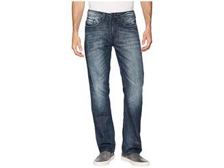 Buffalo David Bitton Six Straight Leg Jeans in Whiskered and Sanded