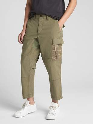 Gap Camo Patch Crop Ripstop Cargo Pants with GapFlex