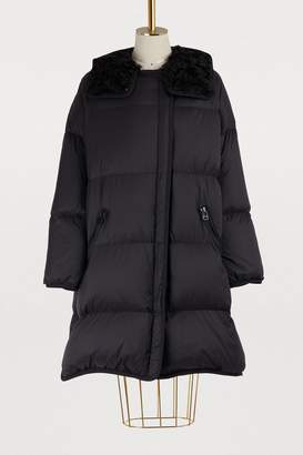 Yves Salomon Army Fur-lined long puffer jacket