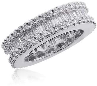 18K White Gold & 3.42ct Diamond Eternity Wedding Ring Size 6.5