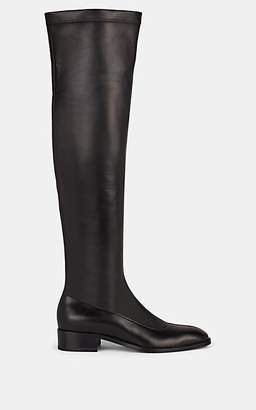 Christian Louboutin Women's Theophila Stretch-Leather Over-The-Knee Boots - Black