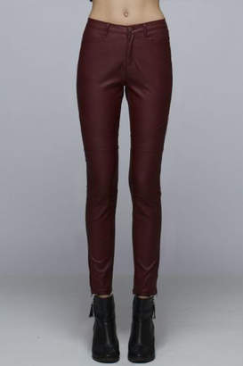 Mind Code Faux Leather Pant